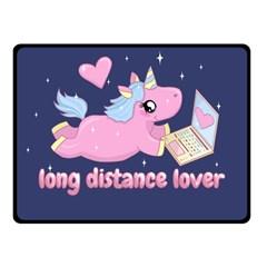 Long Distance Lover   Cute Unicorn Fleece Blanket (small) by Valentinaart