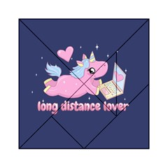 Long Distance Lover   Cute Unicorn Acrylic Tangram Puzzle (6  X 6 ) by Valentinaart