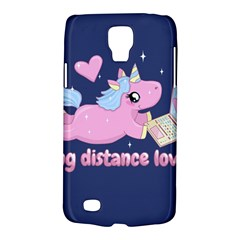 Long Distance Lover   Cute Unicorn Samsung Galaxy S4 Active (i9295) Hardshell Case by Valentinaart