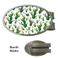 Cactus Pattern Money Clips (oval)