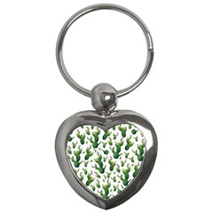 Cactus Pattern Key Chains (heart)