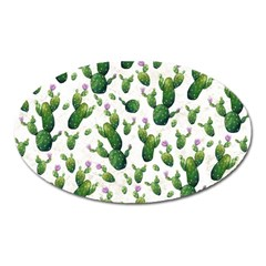 Cactus Pattern Oval Magnet