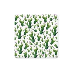Cactus Pattern Square Magnet