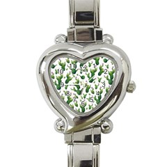 Cactus Pattern Heart Italian Charm Watch