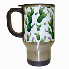 Cactus Pattern Travel Mugs (white)