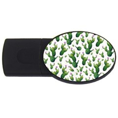 Cactus Pattern Usb Flash Drive Oval (4 Gb)
