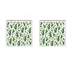 Cactus Pattern Cufflinks (square)