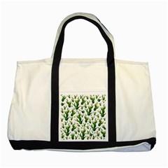 Cactus Pattern Two Tone Tote Bag
