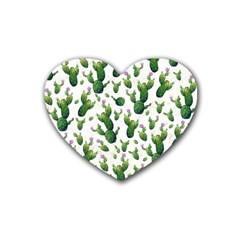 Cactus Pattern Heart Coaster (4 Pack)