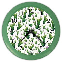 Cactus Pattern Color Wall Clocks