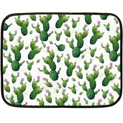 Cactus Pattern Fleece Blanket (mini)