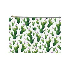 Cactus Pattern Cosmetic Bag (large)