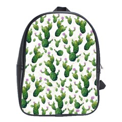 Cactus Pattern School Bag (large)