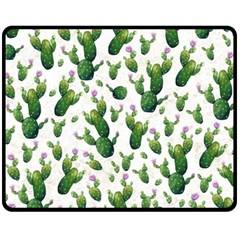 Cactus Pattern Fleece Blanket (medium)