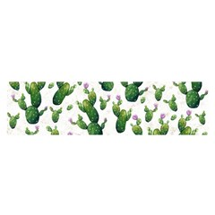 Cactus Pattern Satin Scarf (oblong)
