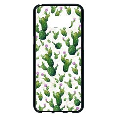Cactus Pattern Samsung Galaxy S8 Plus Black Seamless Case