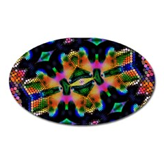 Butterfly Color Pop Art Oval Magnet by Sapixe