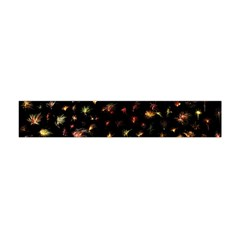 Fireworks Christmas Night Dark Flano Scarf (mini) by Sapixe