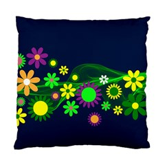 Flower Power Flowers Ornament Standard Cushion Case (two Sides) by Sapixe