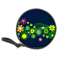 Flower Power Flowers Ornament Classic 20 Cd Wallets by Sapixe