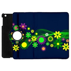 Flower Power Flowers Ornament Apple Ipad Mini Flip 360 Case by Sapixe