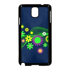 Flower Power Flowers Ornament Samsung Galaxy Note 3 Neo Hardshell Case (black) by Sapixe