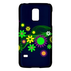 Flower Power Flowers Ornament Samsung Galaxy S5 Mini Hardshell Case  by Sapixe