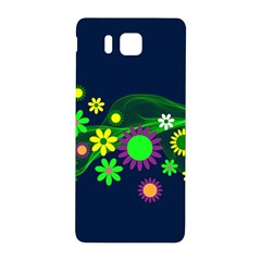 Flower Power Flowers Ornament Samsung Galaxy Alpha Hardshell Back Case by Sapixe