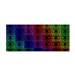 Rainbow Grid Form Abstract Hand Towel by Sapixe