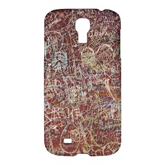 Metal Article Figure Old Red Wall Samsung Galaxy S4 I9500/i9505 Hardshell Case by Sapixe