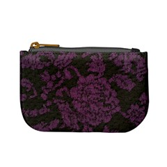 Purple Black Red Fabric Textile Mini Coin Purses by Sapixe