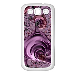 Abstract Art Fractal Art Fractal Samsung Galaxy S3 Back Case (white) by Sapixe