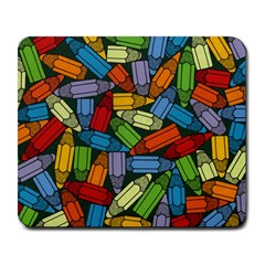 Colored Pencils Pens Paint Color Large Mousepads by Sapixe