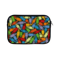 Colored Pencils Pens Paint Color Apple Ipad Mini Zipper Cases by Sapixe