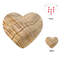 Abstract Brown Tree Timber Pattern Playing Cards (heart)  by Sapixe