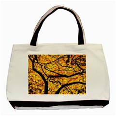 Golden Vein Basic Tote Bag by FunnyCow
