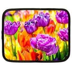 Tulip Flowers Netbook Case (large) by FunnyCow