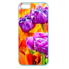 Tulip Flowers Apple Seamless Iphone 5 Case (color) by FunnyCow