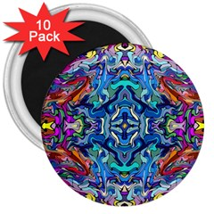 Colorful 2 4 3  Magnets (10 Pack)