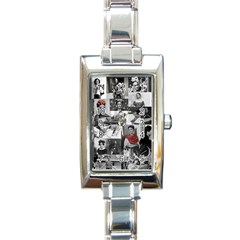 Frida Kahlo Pattern Rectangle Italian Charm Watch