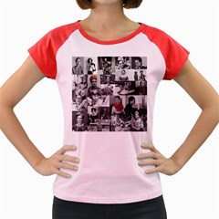 Frida Kahlo Pattern Women s Cap Sleeve T Shirt
