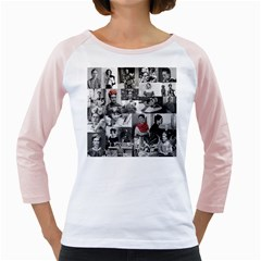Frida Kahlo Pattern Girly Raglans