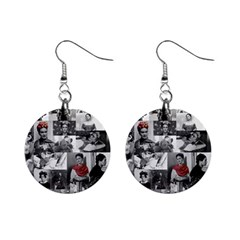 Frida Kahlo Pattern Mini Button Earrings