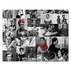 Frida Kahlo Pattern Rectangular Jigsaw Puzzl