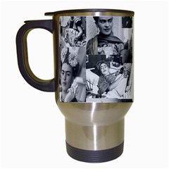 Frida Kahlo Pattern Travel Mugs (white)