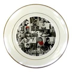 Frida Kahlo Pattern Porcelain Plates