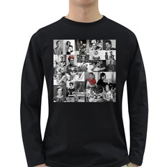 Frida Kahlo Pattern Long Sleeve Dark T Shirts