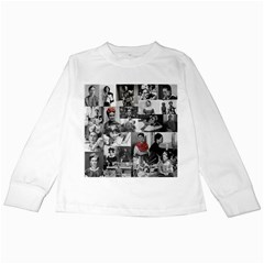 Frida Kahlo Pattern Kids Long Sleeve T Shirts