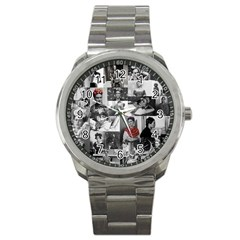 Frida Kahlo Pattern Sport Metal Watch