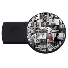 Frida Kahlo Pattern Usb Flash Drive Round (4 Gb)